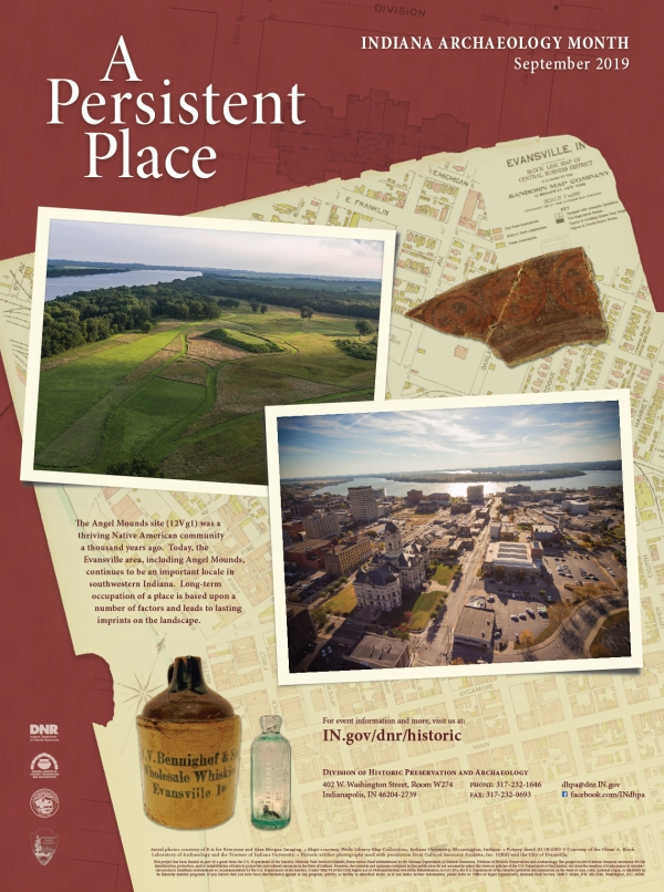 2019 Indiana archaeology month poster