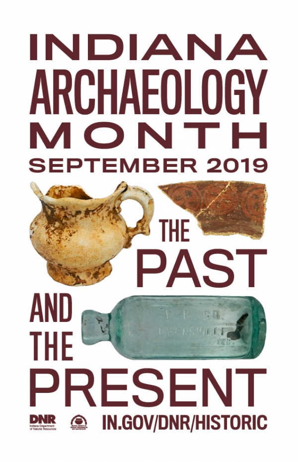 2019 Indiana archaeology month tshirt